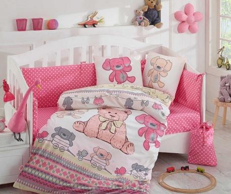 Tombik Pink Ágynemű kiságyba