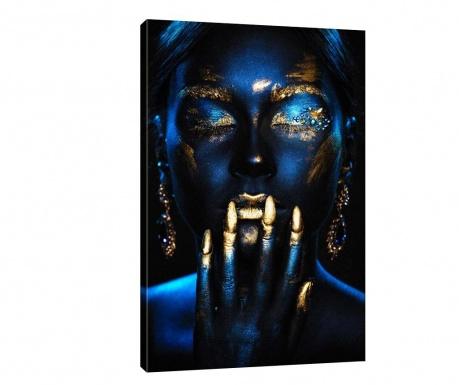 Tablou Golden Blue 70x100 cm