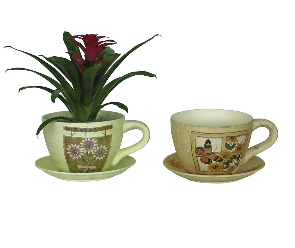 Posuda za cvijeće i podložak Lavander Cup