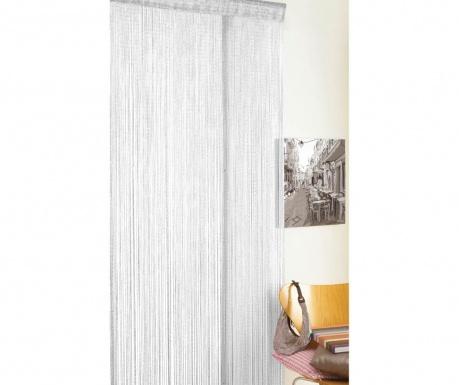 Perdea de usa Strings Glitter White 90x200 cm
