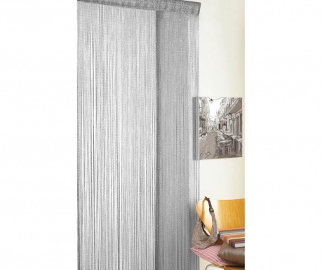 Perdea de usa Strings Glitter Grey 90x200 cm
