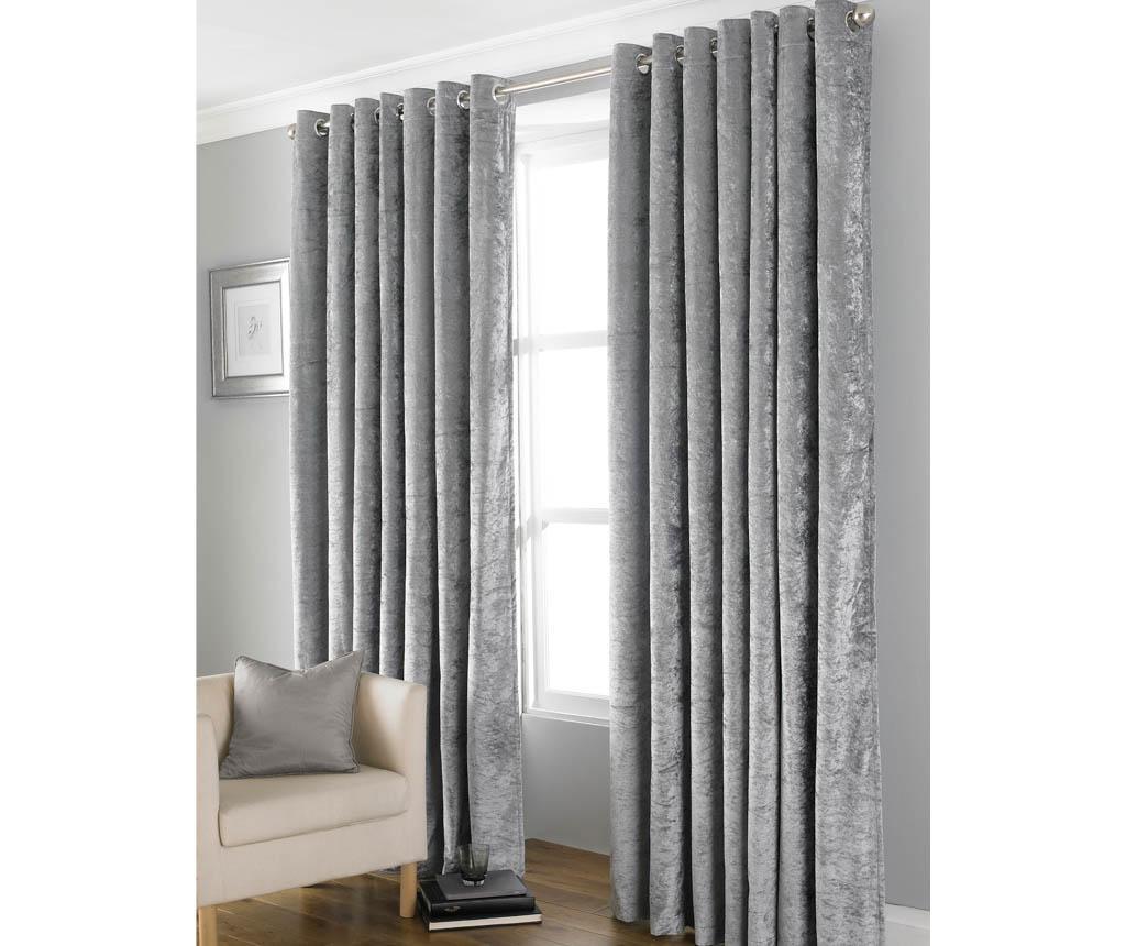 Set 2 draperii Bliss Grey 168x228 cm