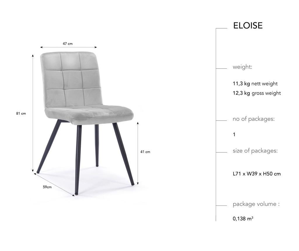 Set 2 scaune Eloise Beige