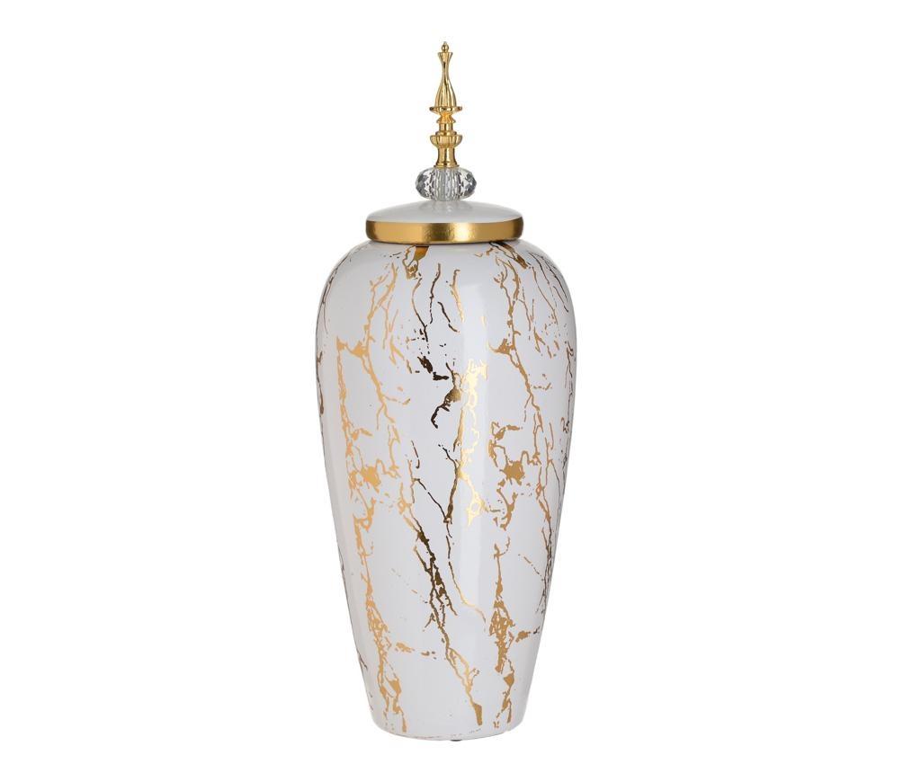 ukrasna posuda s poklopcem Marble Gold