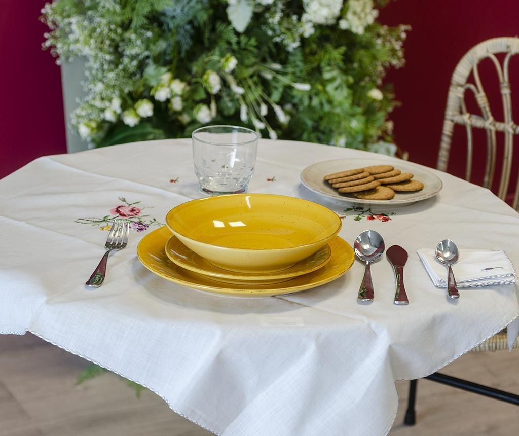 Spiral Mustard Desszertes tányér
