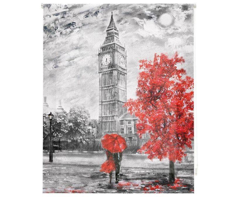 Rolo zastor Big  Ben Art 160x180 cm