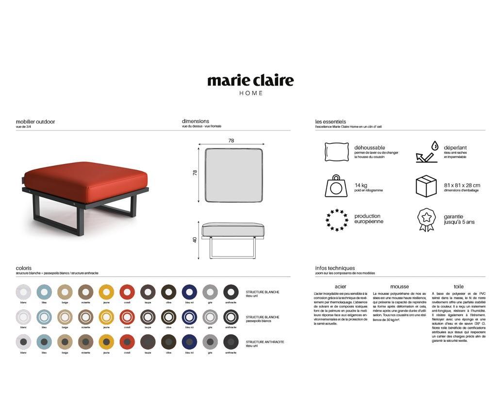 Стол за екстериор Mark Yellow