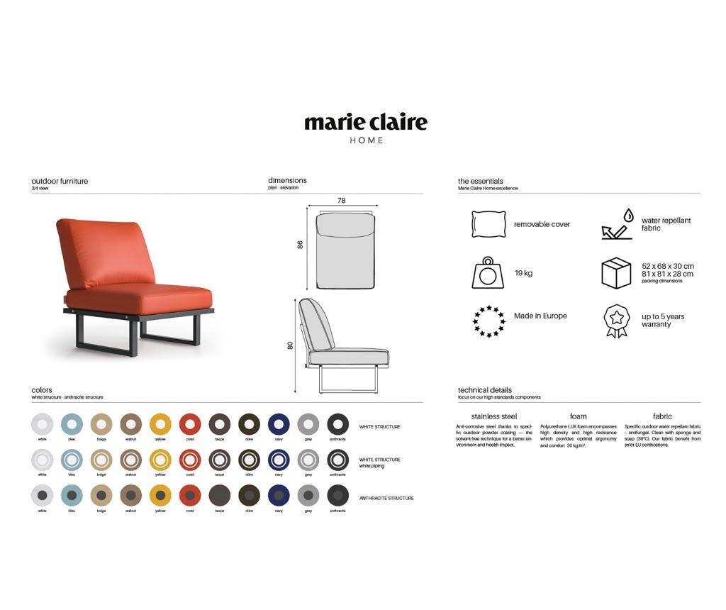 Stolica za vanjski prostor Sam White