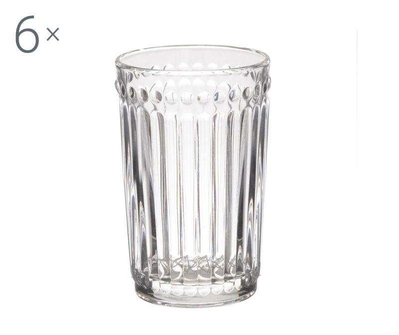 Set 6 kozarcev za vodo Clara Clear 327 ml