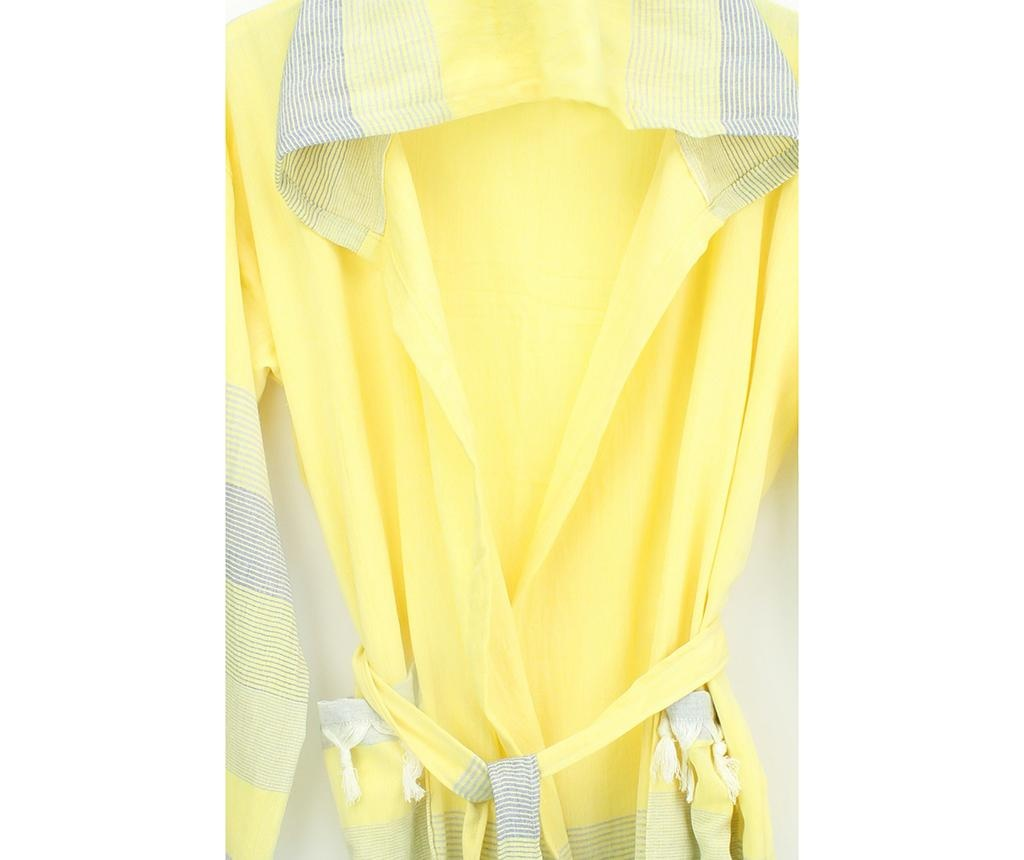 Unisex kopalni plašč Peshtemal Ara Yellow Blue Beige