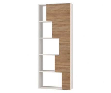 Polica za knjige Ondatoo White and Oak