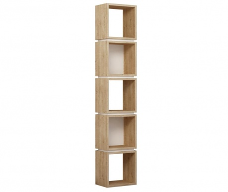 Polica za knjige Multi Oak and White