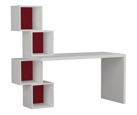Radni stol Balance White and Burgundy