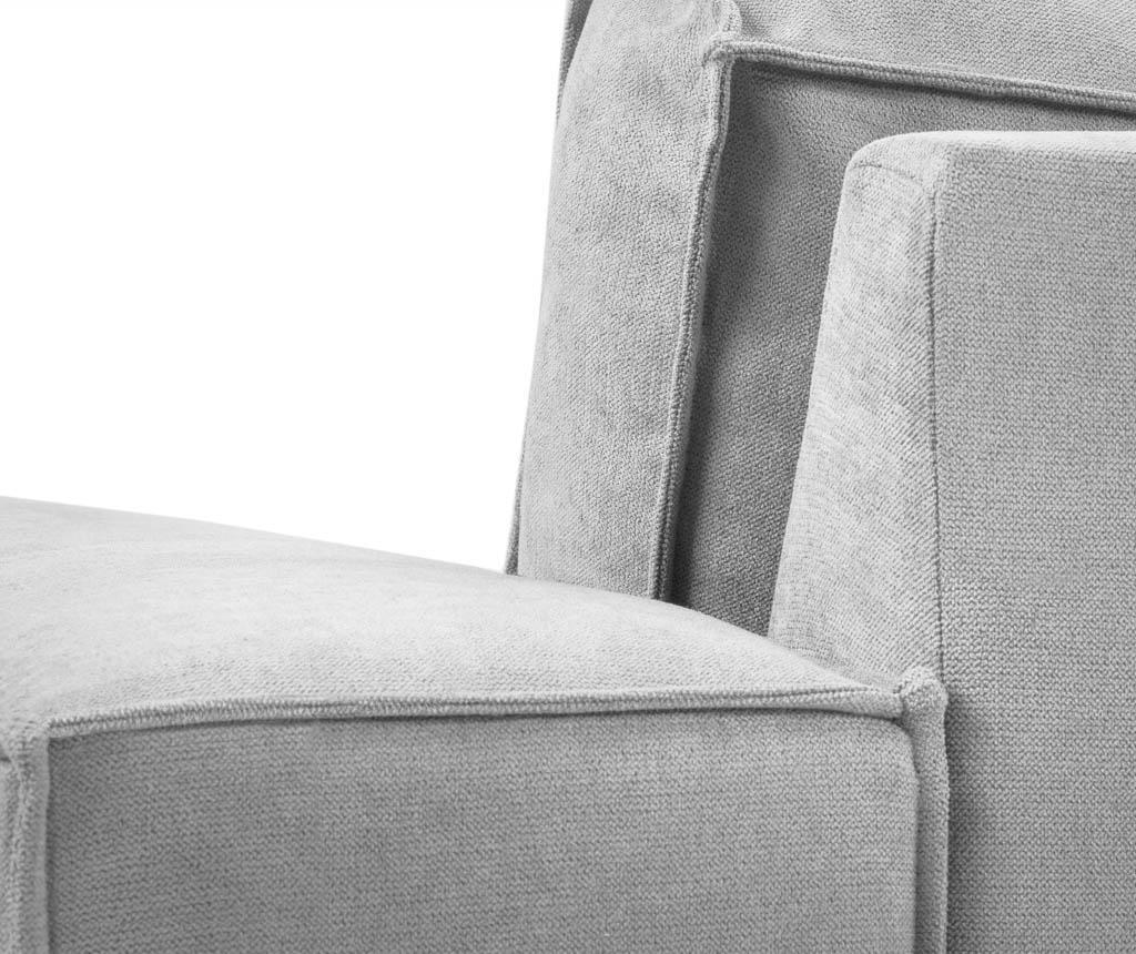 Leva kotna sedežna garnitura Modern Light Grey