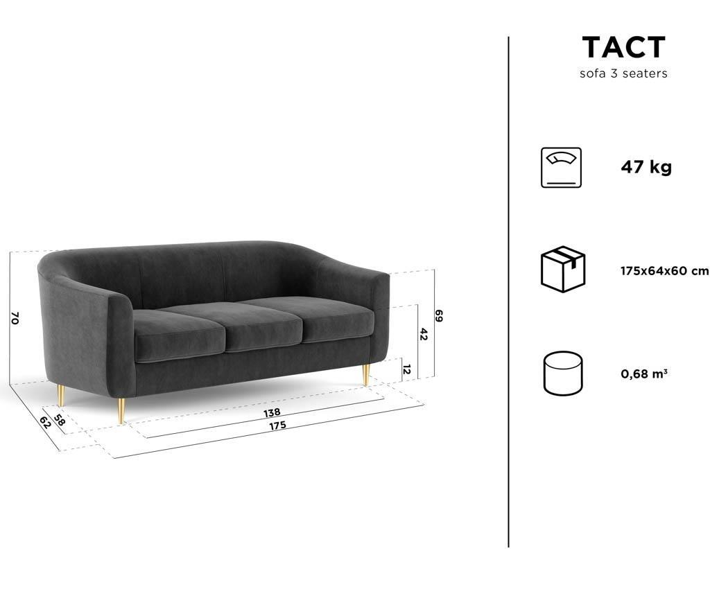 Canapea 3 locuri Tact Turquoise