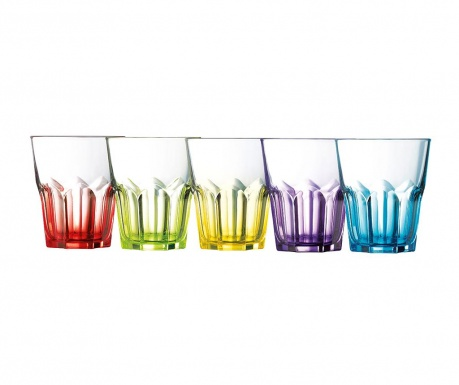 Sada 6 sklenic Crazy Colors 300 ml