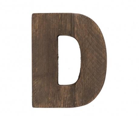 Decoratiune Letter D Brown Wood