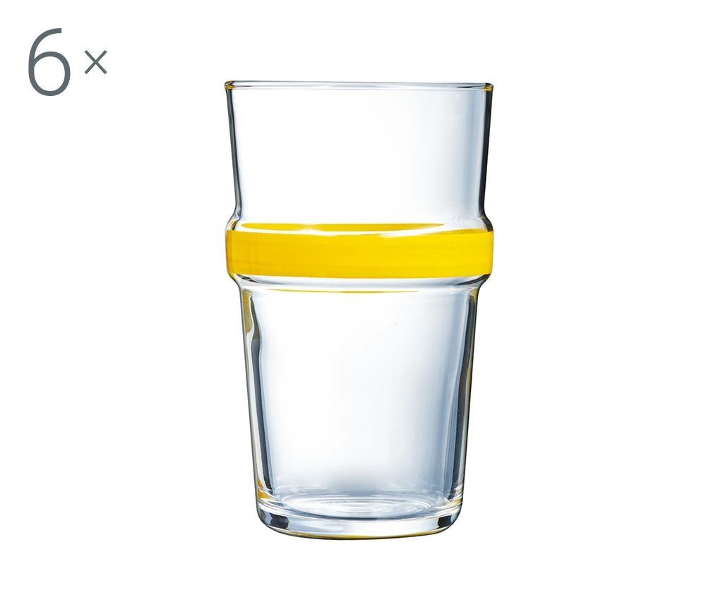 Set 6 kozarcev Cadence Yellow 320 ml