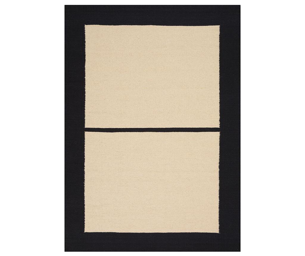 Килим Nashville Ivory Black 152x213 см