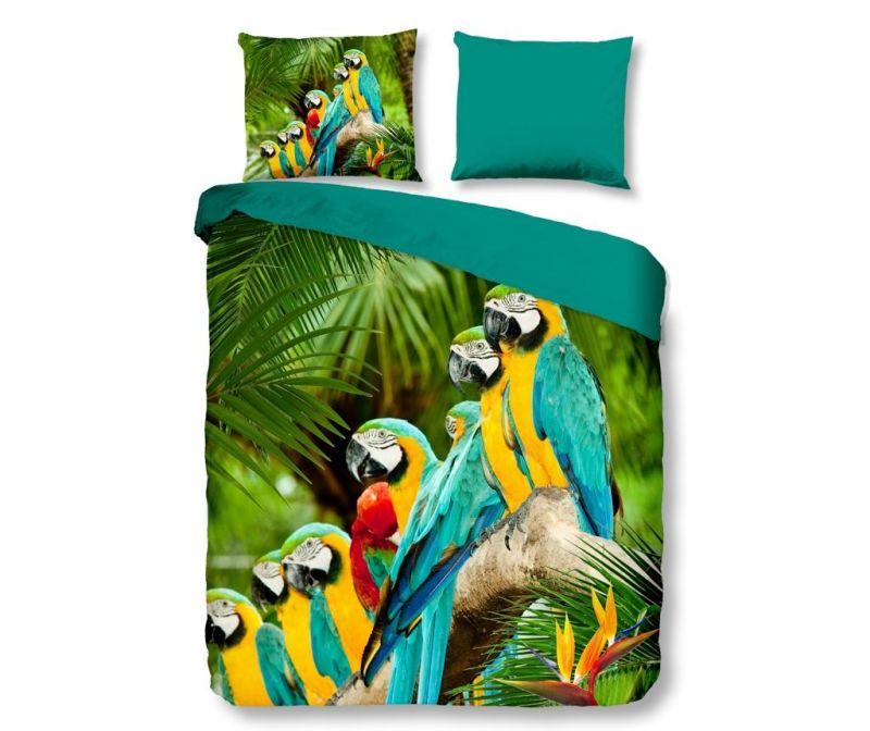 Posteljnina King Parrots Multi