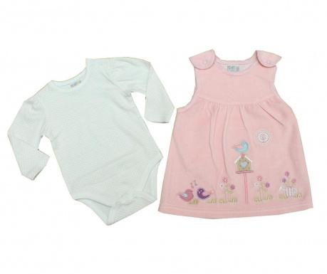 Otroški komplet - obleka in bodi z dolgimi rokavi House Bird 9-12 mesecev