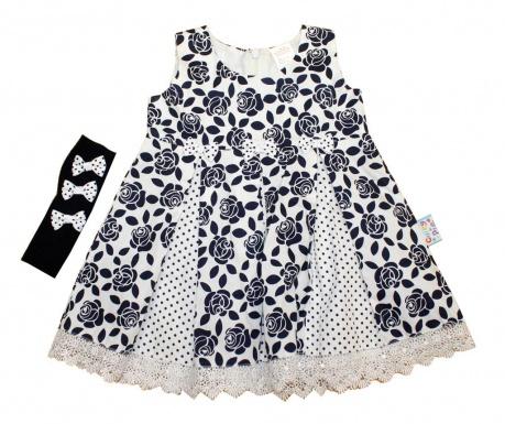 Otroški komplet - obleka in naglavni trak Lemona 12-18 mesecev