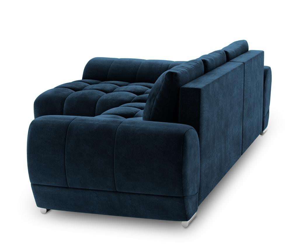 Raztegljiva leva sedežna kotna garnitura Nuage Royal Blue