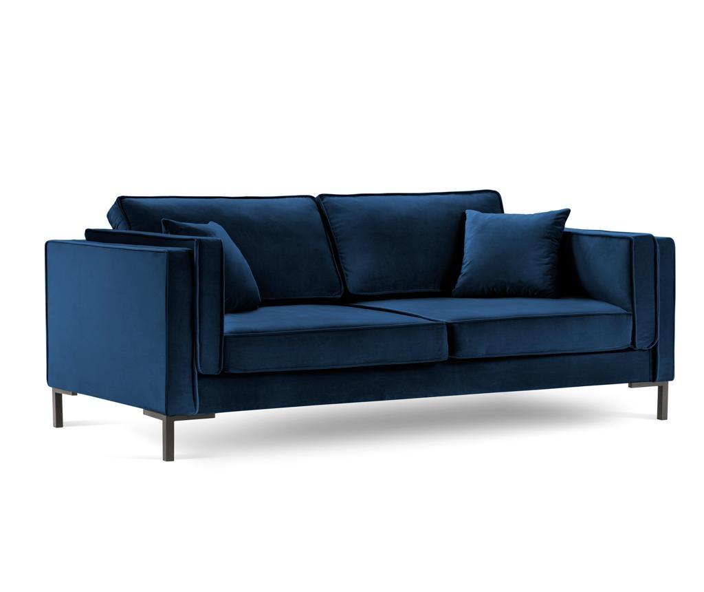 Luis Royal Blue Háromszemélyes kanapé