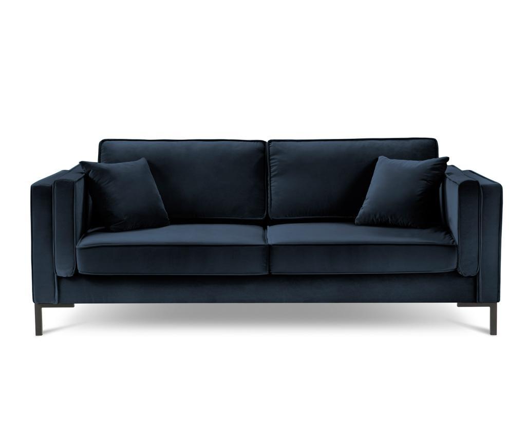 Luis Dark Blue Háromszemélyes kanapé