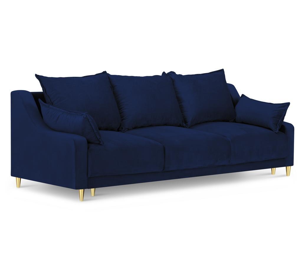 Pansy Royal Blue Kihúzható háromszemélyes szófa