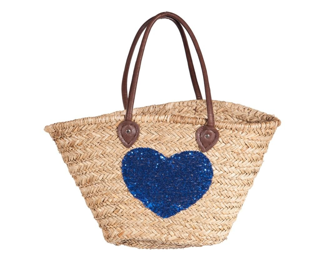 Torba za plažo Heart Shine Blue