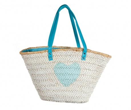 1ae2b054122 Ограничено количество Плажна чанта Heart Blue