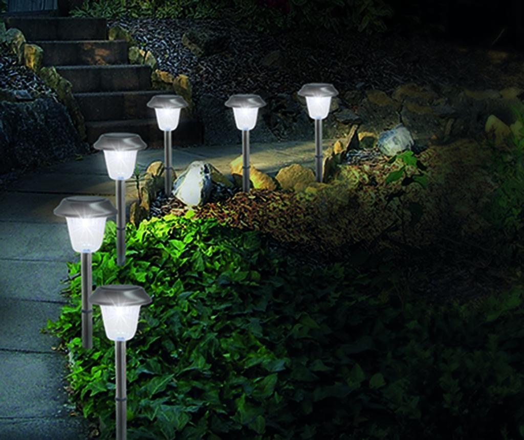 Set 6 solarnih talnih svetilk Odell