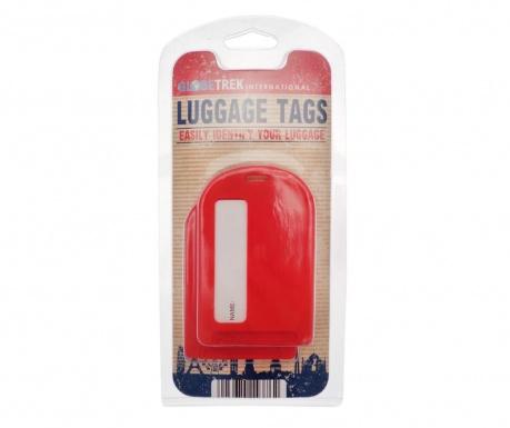 Set 2 etichete pentru bagaje Identify Red