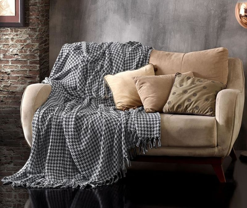 Cuvertura Pique Throw Anthracite Grey 200x230 cm