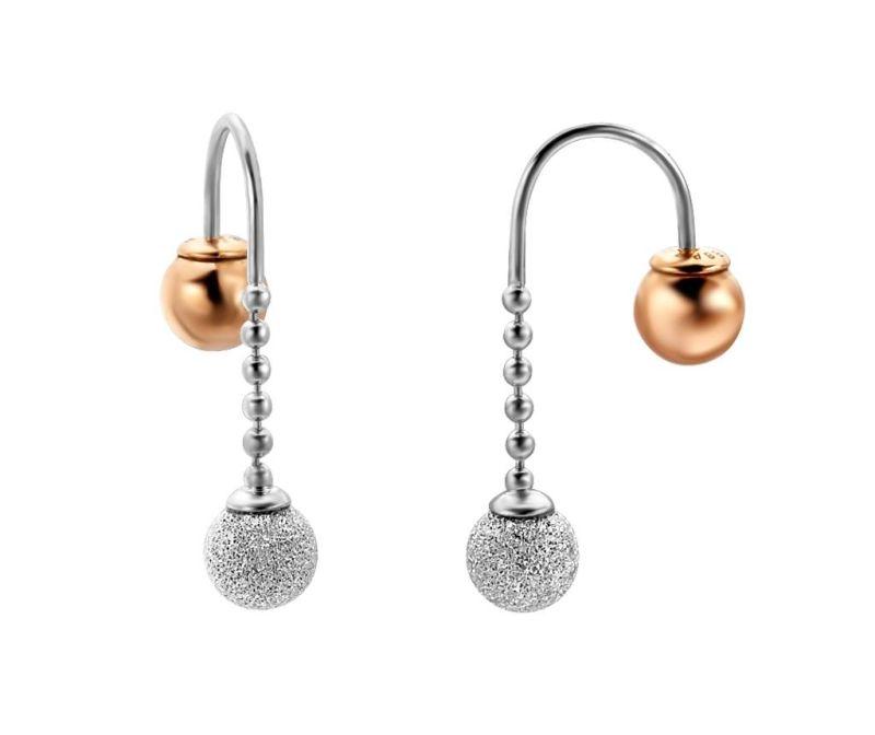 Náušnice Esprit Further Silver & Rose Gold Tone
