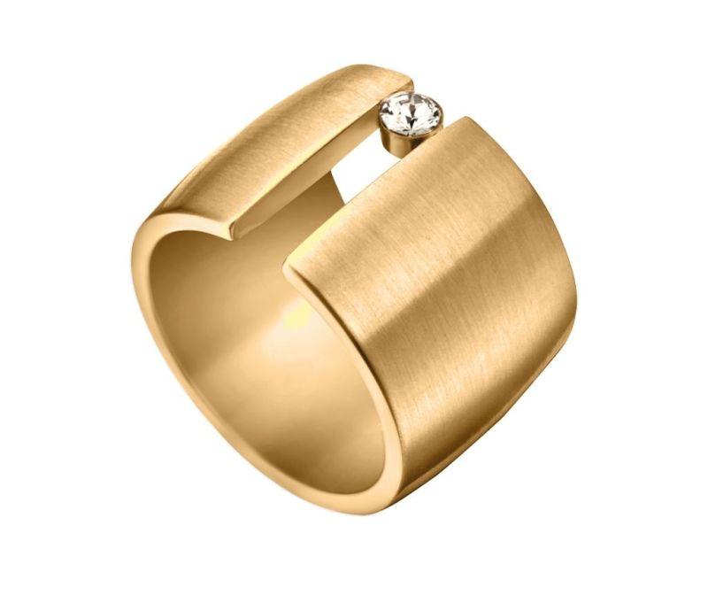 Prstan Esprit Onda Gold Tone 17 mm