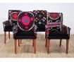 Set 4 scaune Black Love