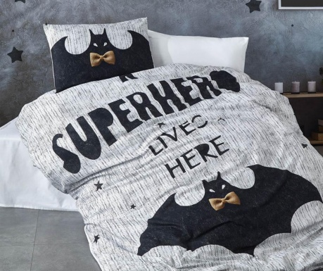 Posteljnina Single Super Hero