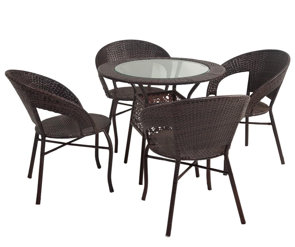 Set stol i 4 stolica za vanjski prostor Sunny