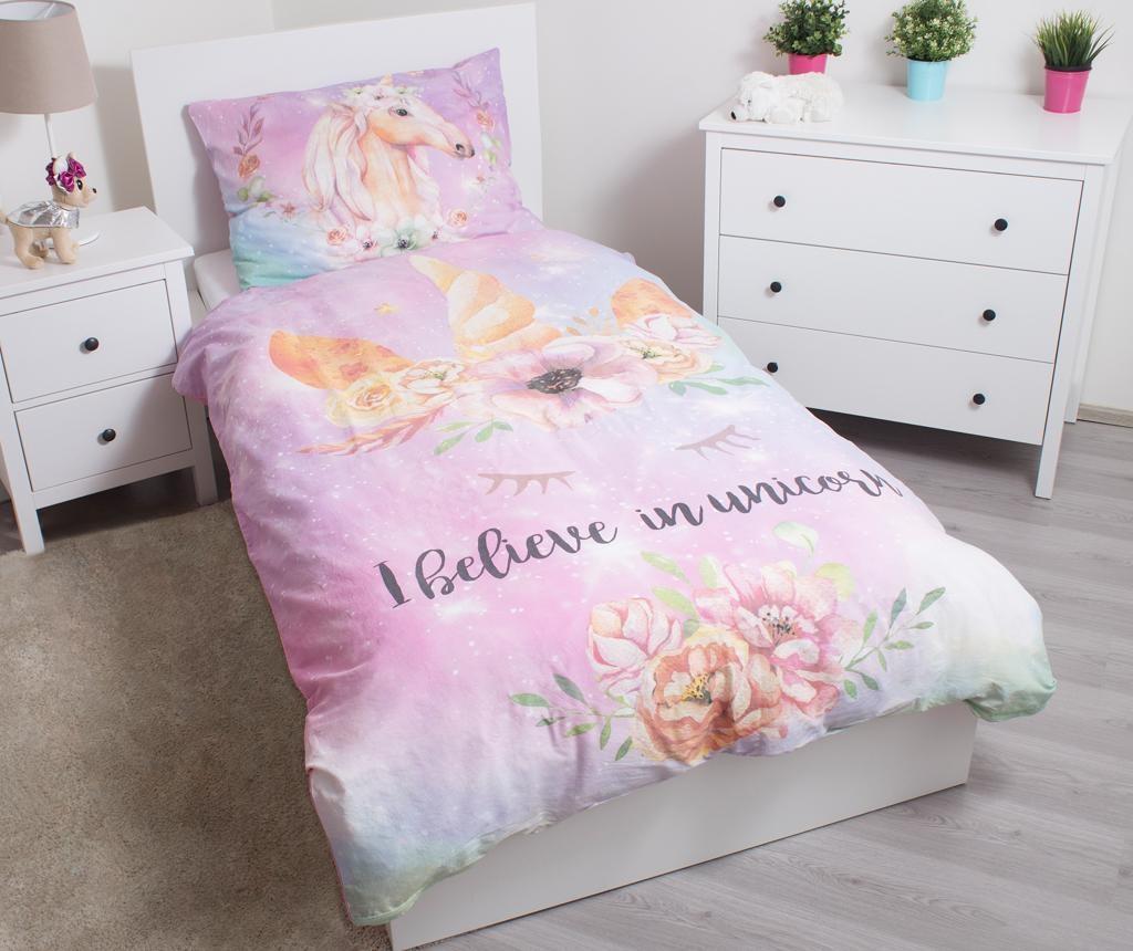 Спален комплект Single Unicorn pink