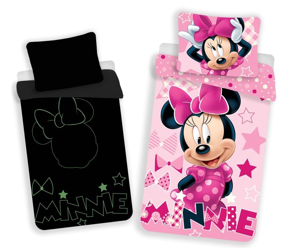 Set de pat Single Minnie Glow