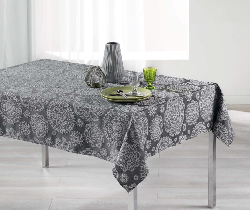 Namizni prt Rose Des Vents Charcoal Grey 140x300 cm