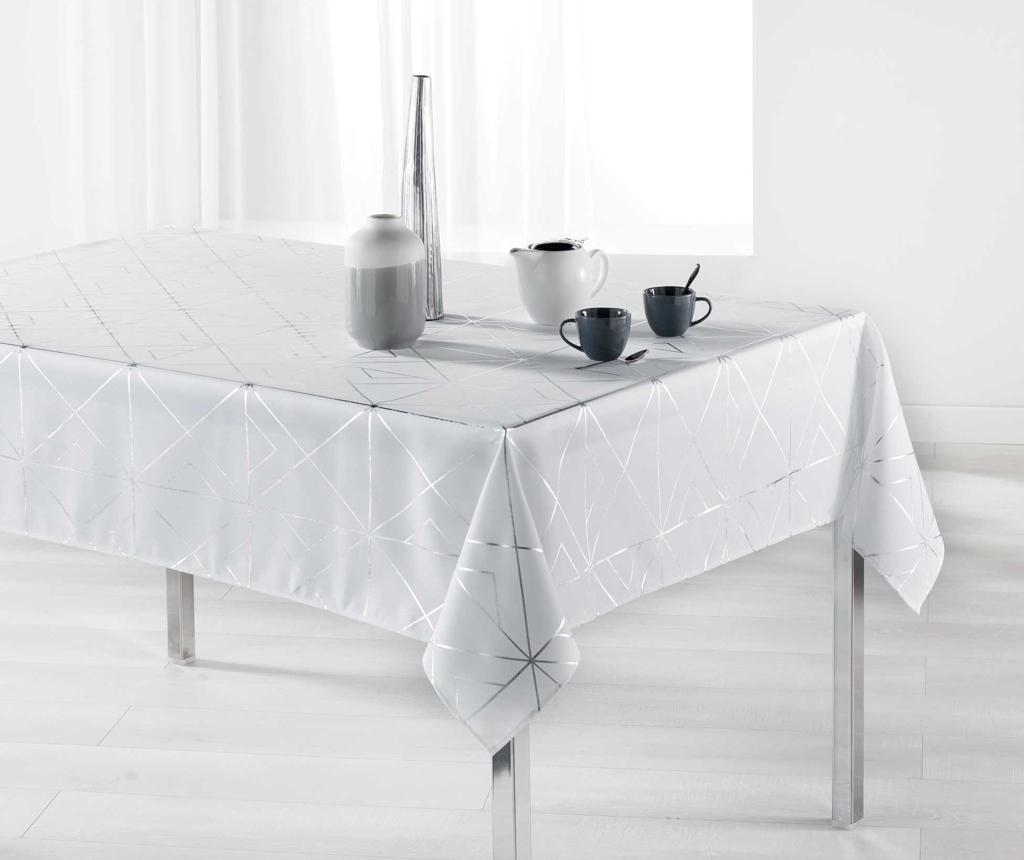 Stolnjak Quadris White and Silver 150x240 cm