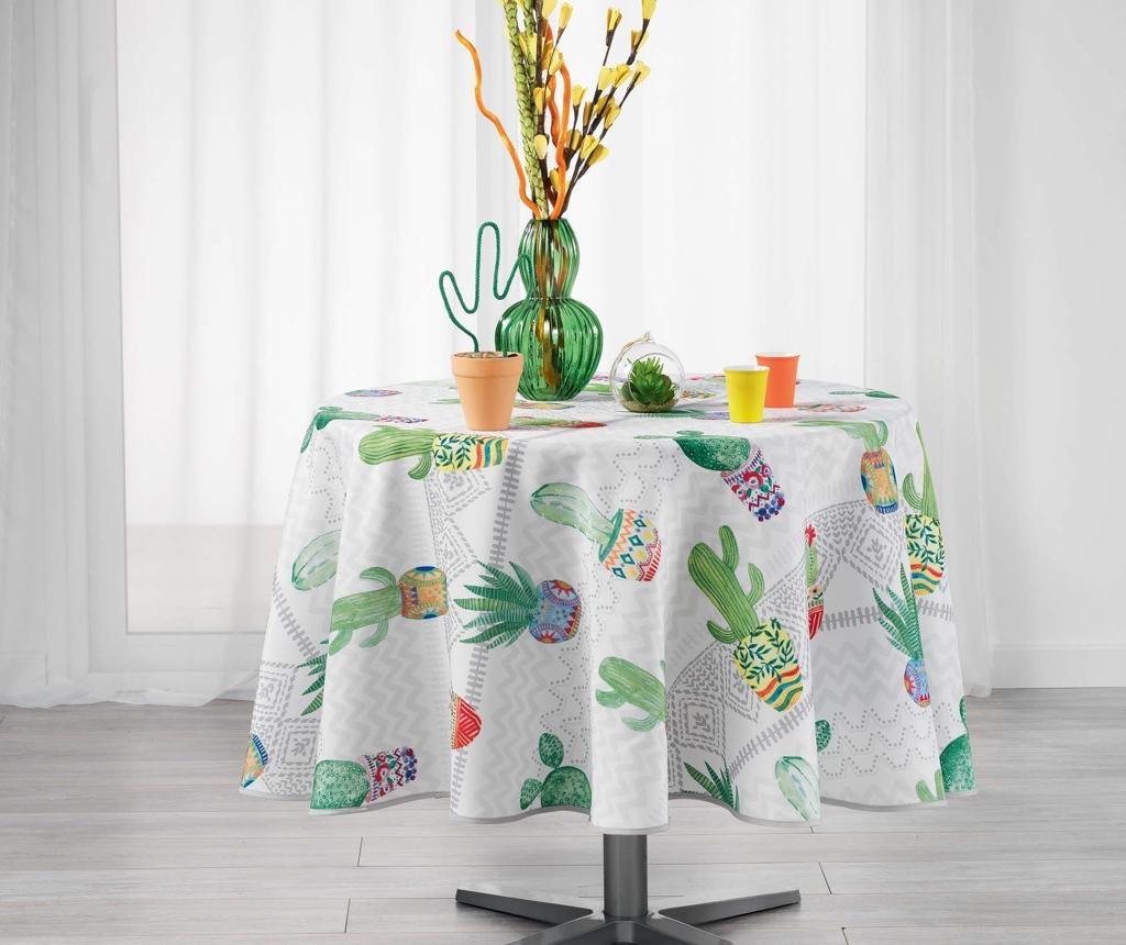 Melocactus Round White Asztalterítő 180 cm