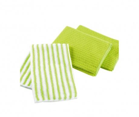 Комплект 3 кухненски кърпи Cuistot Green 40x40 см