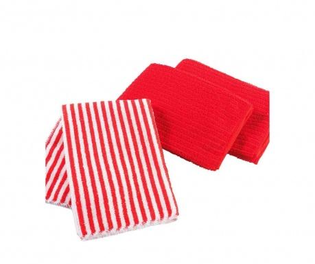 Комплект 3 кухненски кърпи Cuistot Red 40x40 см