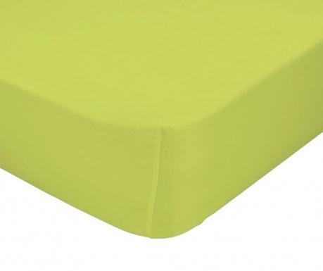 Plahta s elastičnom gumicom Basic Green 90x200 cm