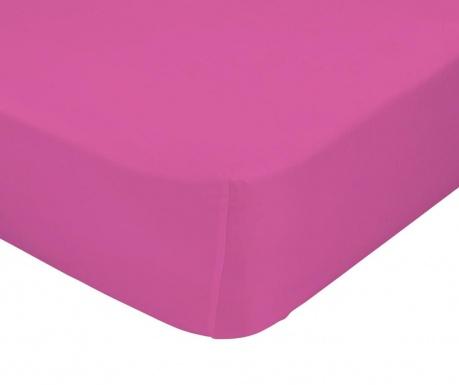 Plahta s elastičnom gumicom Basic Fuchsia 90x200 cm