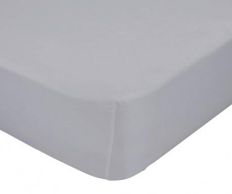 Plahta s elastičnom gumicom Basic Grey 90x200 cm